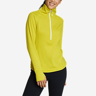 Women's High Route Grid Fleece 1/2-Zip in White
