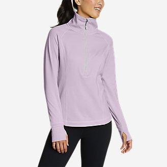 Women's High Route Grid Fleece 1/2-Zip in Purple