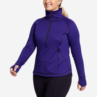 Women's High Route Grid Fleece 1/2-Zip in Blue