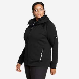 Women's Outpace Fleece Full-Zip Hoodie in Black