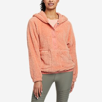 Women's Quest Plush Hoodie in Orange
