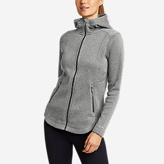 Women's Sunray Sweater Fleece Full-Zip Jacket in Gray
