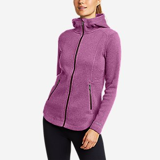 Women's Sunray Sweater Fleece Full-Zip Jacket in Purple