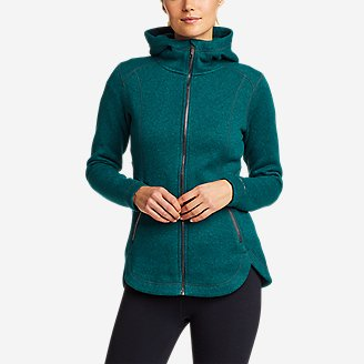Women's Sunray Sweater Fleece Full-Zip Jacket in Green