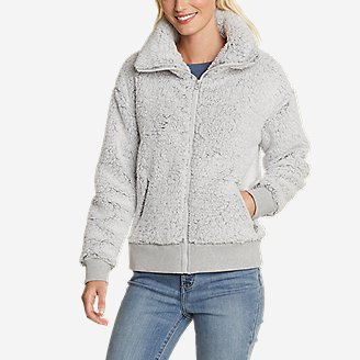 Women's Fireside Plush Full-Zip Jacket in Gray
