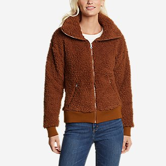 Women's Fireside Plush Full-Zip Jacket in Red