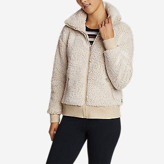 Women's Fireside Plush Full-Zip Jacket in White