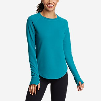 Women's Thermal Tech Crew in Blue