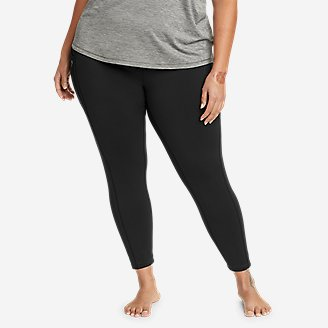 Women's Crossover Winter Trail Adventure High-Rise Leggings in Black