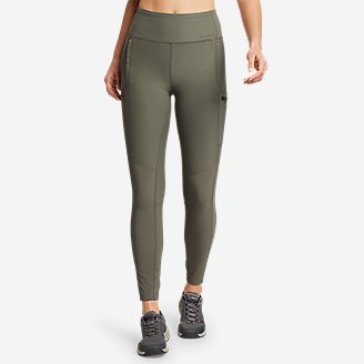 Women's Trail Tight Hybrid High-Rise Leggings in Green