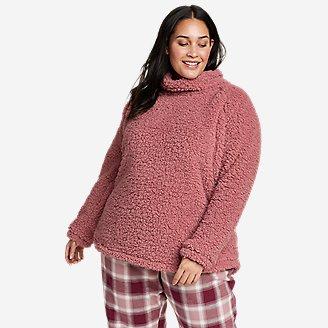 Women's Fireside Plush Pullover in Blue