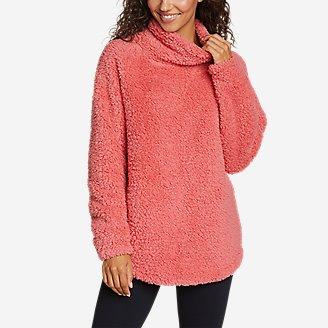 Women's Fireside Plush Pullover in Red