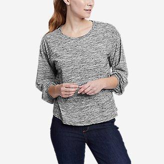 Women's Myriad 3/4-Length Puff Sleeve Top - Solid in Beige