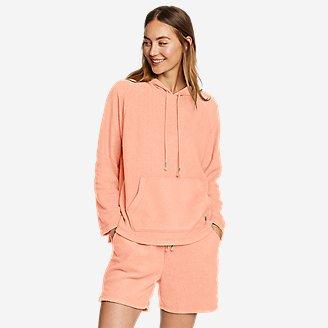 Women's Shoreline Pullover Hoodie in Orange