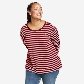 Women's Myriad Long-Sleeve Crew T-Shirt - Stripe in Brown