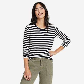 Women's Myriad Long-Sleeve Crew T-Shirt - Stripe in Blue