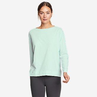 Women's Tempo Light Long-Sleeve Boat-Neck T-Shirt in Green