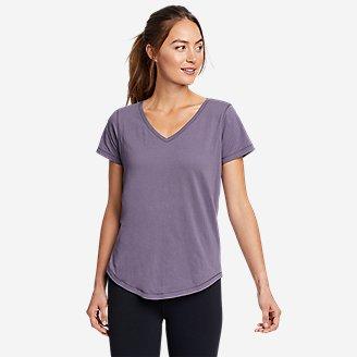Women's Elevate V-Neck T-Shirt in Purple