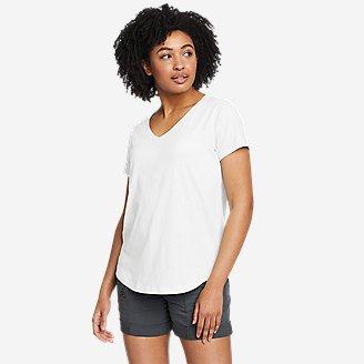 Women's Tempo Light V-Neck T-Shirt in White