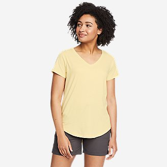 Women's Tempo Light V-Neck T-Shirt in Yellow