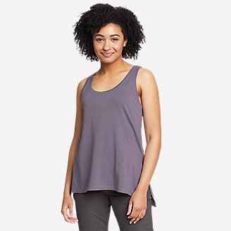 Women's Tempo Light Step-Hem Tank Top in Purple