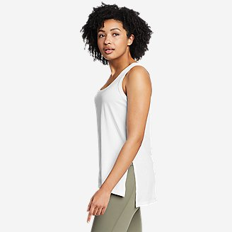Women's Tempo Light Step-Hem Tank Top in White