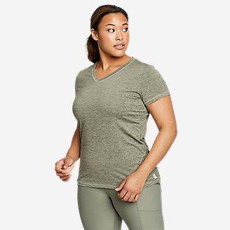 Women's Resolution Short-Sleeve V-Neck T-Shirt in Green