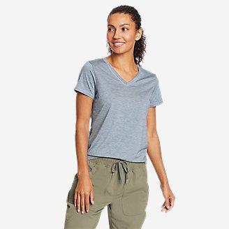 Women's Resolution Short-Sleeve V-Neck T-Shirt in Blue