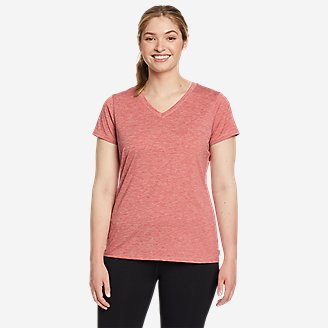 Women's Resolution Short-Sleeve V-Neck T-Shirt in Red