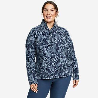 Women's Quest Fleece 1/4-Zip - Printed in Blue