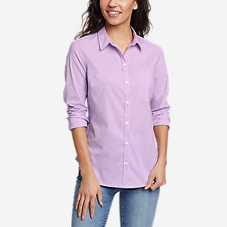 Women's Girl On The Go Long-Sleeve Shirt - Classic Fit in Purple