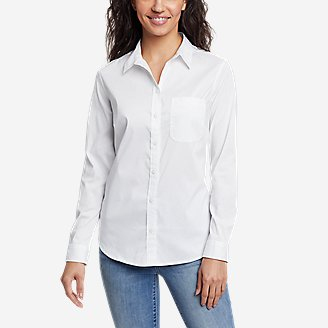Women's Girl On The Go Long-Sleeve Shirt - Classic Fit in White