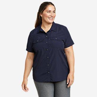 Women's Mountain Ripstop Short-Sleeve Shirt in Blue