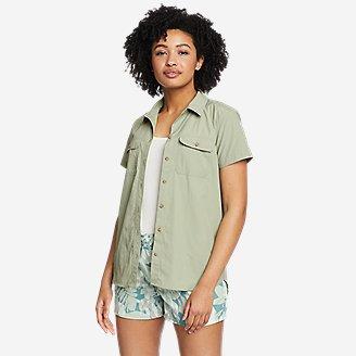 Women's Mountain Ripstop Short-Sleeve Shirt in Green