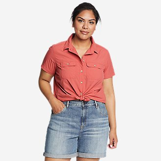 Women's Mountain Ripstop Short-Sleeve Shirt in Red