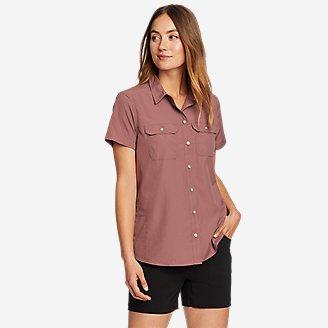 Women's Mountain Ripstop Short-Sleeve Shirt in Pink