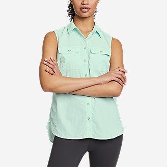 Women's Mountain Ripstop Sleeveless Shirt in Green