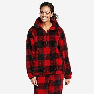 Women's Quest Plush Fleece 1/2-Zip - Print in Red
