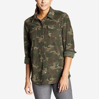 Women's Chutes Microfleece Shirt - Print in Green