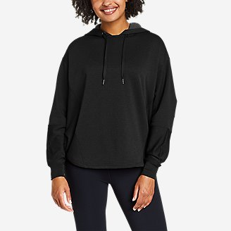 Women's On The Trail Poncho Hoodie in Black
