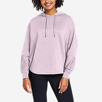 Women's On The Trail Poncho Hoodie in Purple