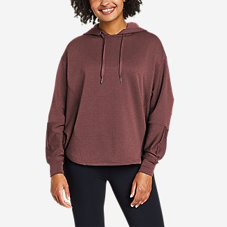 Women's On The Trail Poncho Hoodie in Red