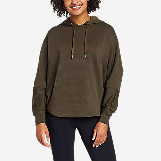 Women's On The Trail Poncho Hoodie in Green