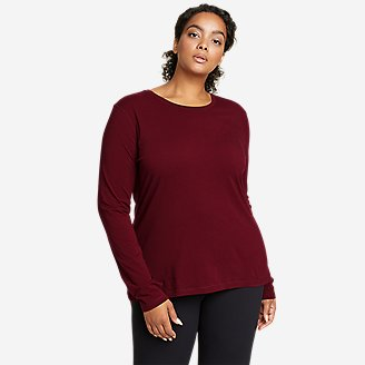 Women's Tempo Light Long-Sleeve T-Shirt in Red