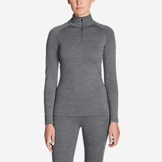 Women's Midweight FreeDry Merino Hybrid Baselayer 1/4-Zip in Gray
