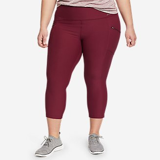 Women's Trail Tight Capris - High Rise in Red