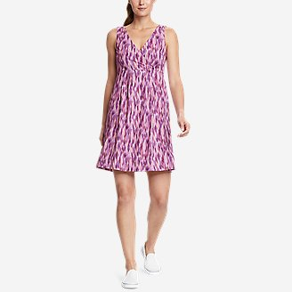 Women's Aster Crossover Dress - Print in Purple