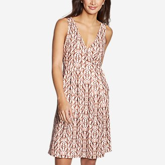 Women's Aster Crossover Dress - Print in Red