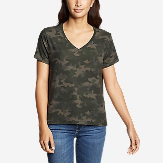 Women's Mercer Short-Sleeve Easy T-Shirt - Print in Green