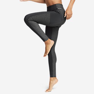 Women's Trail Mix Hybrid Leggings in Gray